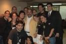 El equipo de producción junto a Willie Colón