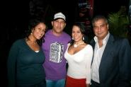 Nathalia Dumonte, Ángel Moreno tecladista de EA, Alexandra Travieso y Harol Pérez