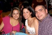 Marine Fernández, Katherine Prieto y Orlando Muñoz