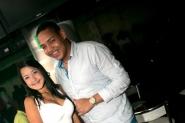 Luis Lovera y su amiga