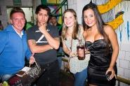 Rodrigo Lasarte y Mariana disfrutando con Ron Pampero