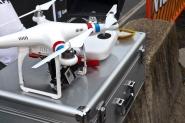 El drone que filmó la carrera con una GoPro