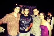 Leo, Samuel, Andrés y Nani